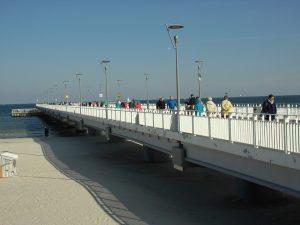 Molo w Kołobrzegu - jedna z atrakcji turystycznych